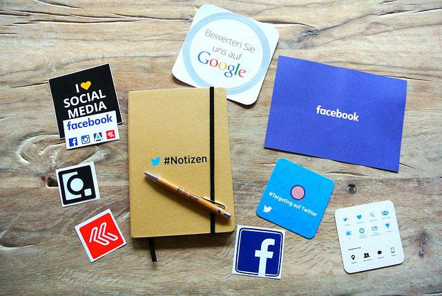 Facebook, Twitter e Instagram